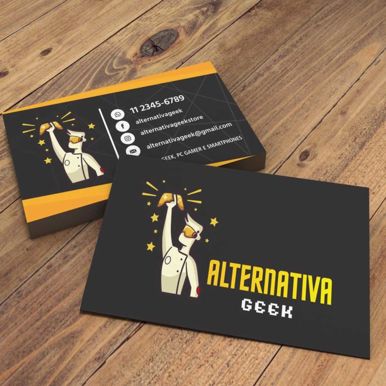 Alternativa-Geek-Logo e Cartão de visitas